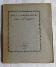 Het menschelijk brood door Karel Van De Woestijne – 1926