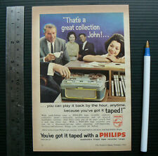 1962 vintage ad PHILIPS TAPE RECORDER advertisement advert advertising reel to