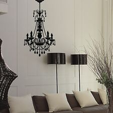 Chandelier Hanging Lamp Black Removable DIY Vinyl Wall Decal Sticker Home Decor