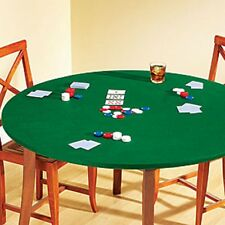 "Fitted Round Elastic Edge Green Felt Game Table Cover Cards Games 36""-48"""