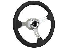1969 - 1985 Chevy Nova Black Sport Steering Wheel Brushed Kit, Hub & Emblem