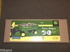 JOHN DEERE NEW IN BOX PEG PEREGO RIDE ON FARM WAGON STAND ALONE OR TRAILER!