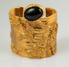 Yves Saint Laurent YSL Arty gold-plated glass cuff bracelet