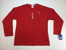 NEW CHAMPION ATHLETICS RED LONG SLEEVE T-SHIRT SIZE XL