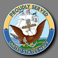 "US Navy Veteran Decal Sticker 4"" USN"