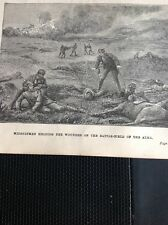 H6-1 Ephemera Book Plate 1900 Helping The Wounded On The Battlefield Of Alma
