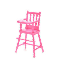 Baby High Chairs Plastic Feeding Chair Babie Dollhouse Bedroom Furniture ab