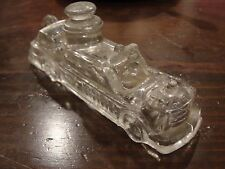 ANTIQUE/VINTAGE GLASS FIRE ENGINE CANDY CONTAINER
