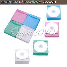 100 VCD DVD CD Pochette PLASTIQUE Sac Etui Rangement Range Sacoche Couleur Choix