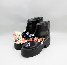 ONE PIECE Anime Brook Girls Black Cosplay Shoes Boots X002