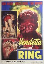 """RINGSIDE"" Affiche originale italienne entoilée (Frank MAC DONALD / Don BARRY)"