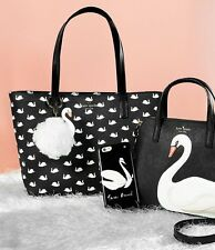 NWT Kate Spade Hawthorne Lane Swans Small Ryan Tote Black NEW $158