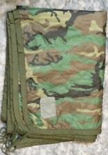 Woodland Camo Poncho liner Woobie Blanket US Military Surplus EXCELLENT LINER