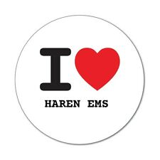 I love HAREN EMS  - Aufkleber Sticker Decal - 6cm