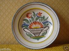 Ancienne Assiette de l'Est.  Waly..Faience polychrome. XIXème .Antique plate