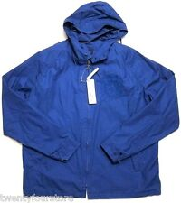 NWT $250 Mens Lacoste Cotton Windbreaker Jacket in Capitaine Blue sz 54 / L