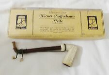 VINTAGE GERMAN WIENER KAFFEEHAUS PIPE WITH FOUR REFILLS IN THE BOX