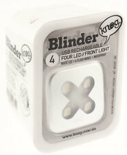 KNOG BLINDER 4 X CROSS Bike Headlight Front Silver 80 Lumen 4 White LED USB NEW
