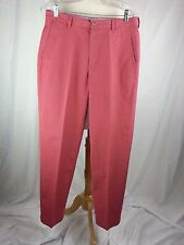 Brooks Brothers Hudson Men's Golf Pants 32 x 32 Coral Orange Cotton Hong Kong