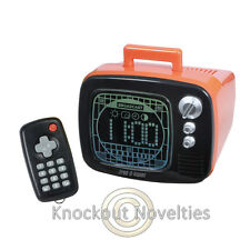 Fred-o-Vision Alarm And Light TV Styled Remote Time Clock Television Lights Up