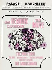 "Jimi Hendrix / The Move Palace Manchester 16"" x 12"" Photo Repro Concert Poster"