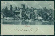 Torino Città Borgo Medioevale Chiaro di Luna cartolina XB2331