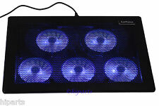 "5 Fan LED 11 - 17 "" Laptop Notebook Cooling Pad Cooler Stand Chill Mat Chiller"