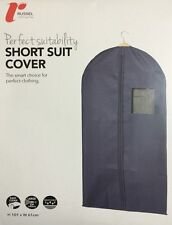 Russel Short Suit Garment Gown Dress Clothes Shirt Cover Navy Canvas New H&L