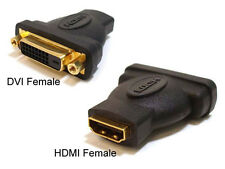 HDMI FEMALE TO DVI D FEMALE SINGLE LINK ADAPTER CONNECTOR PC LAPTOP VIDEO