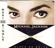 MAXI CD SINGLE 3T MICHAEL JACKSON BLACK OR WHITE DE 1991