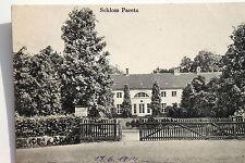 19074 AK Ketzin Schloss Paretz mit Zaun Eingang und Bäumen 1914