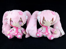 Hatsune Miku Plush Doll set of 2 official Taito Vocaloid Sakura Miku
