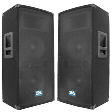 "Seismic Audio Pair Dual 10"" PA DJ Speakers 600 Watts ~ Pro Audio Band"