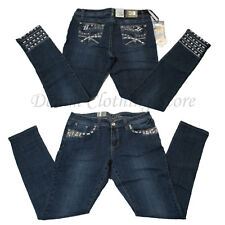 Wholesale Lot of 9 Women Juniors Rhinestone Denim Skinny Jeans Mixed Sizes