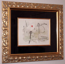 JOAN MIRO TRACE SUR L'EAU FRAMED FINE ART LITHOGRAPH MAEGHT 1963 ABSTRACT