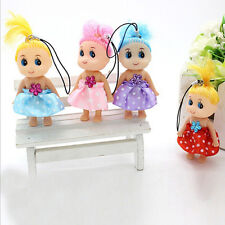 3x Baby Mini Ddung Doll Toy Confused Doll Key Chain Phone Pendant Ornament nuevo