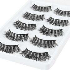 5 Pairs Luxurious 100% Real Mink Fur 3D False Eyelashes Natural Long Eye Lashes