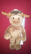 """CANADA COUNTRY SOUVENIR BROWN MOOSE 15"""" STUFFED ANIMAL HOUSE PLUSH TOY"""