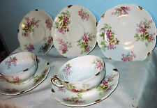 CA France Depose G. Ahrenfeldt Limoges 1910-15 2 cups, 5 saucers