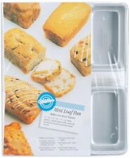 Wilton Aluminum Mini Bread Loaf Cake Pan Quality Aluminum Six Cavities 2105-9791