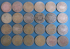 ONE QUARTER ANNA EDWARD VII,GEORGE V/VI  KING EMPEROR - 24 DIFFERENT YEAR COINS
