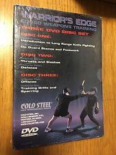 Warrior's Edge Edged weapons training 3 DVD set Cold Steel Knives New
