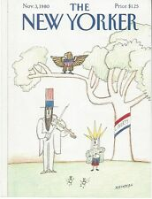 COVER ONLY ~The New Yorker magazine~ STEINBERG ~ November 3 1980 ~ Liberty Eagle