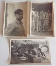 3 x VINTAGE BOY SCOUTS 1920's REAL PHOTO POSTCARDS
