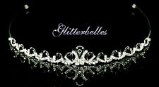 Silver Crystal RAINBOW BLACK Wedding Bridal Prom TIARA *NEW LOWER PRICE*