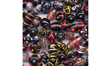 100g Indian glass Bead mix  Amethyst lampwork