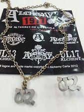 U2-pack collar,necklace+pin original-ROCK