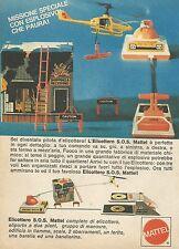 X7527 Elicottero S.O.S. Mattel - Pubblicità 1977 - Vintage Advertising