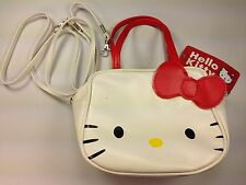 Hello Kitty White Face Red Bow Small Purse Hand Bag Shoulder Strap Girls Cute