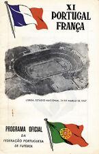 Fußball Programm Football Programm 1957 Portugal v Frankreich France